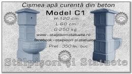 Cismea apa curenta din beton model C1.
