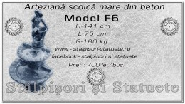 Fantana arteziana scoica mare din beton model F6.