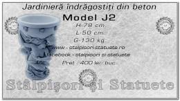Jardiniera indragostiti din beton model J2.