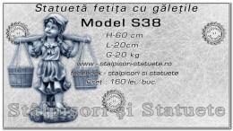 Statueta fetita cu galetile din beton model S38.
