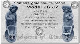 Statuete gradinari cu roaba din beton model J6, J7.
