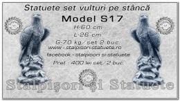Statuete set vulturi din beton model S17.