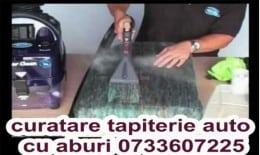 Curatare tapiterie auto cu aburi injectie extractie + aburi + solutii profesionale