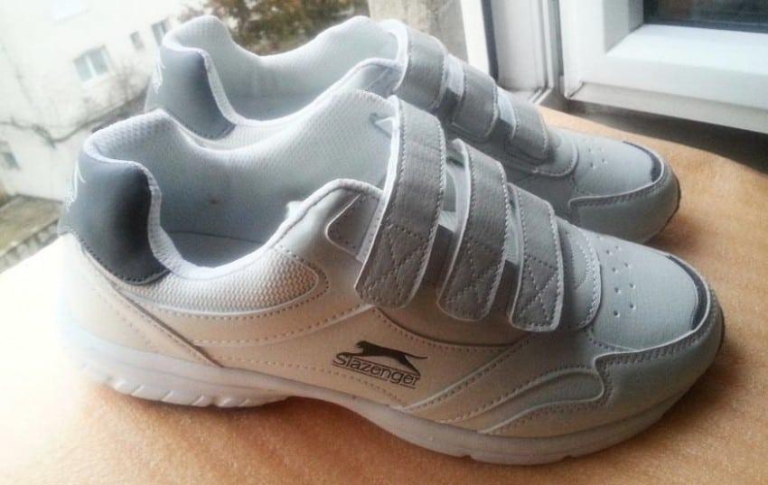 Adidasi Slazenger Ash Strap Barbati, 43, albi