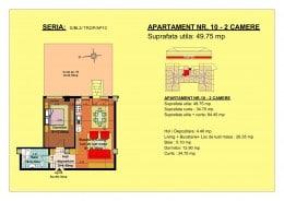 49.75 mp - apartament 2 camere
