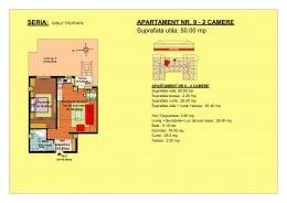 50 mp - apartament 2 camere