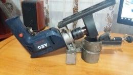 Bormasina AEG cu suport ascuțire lanț detasabil