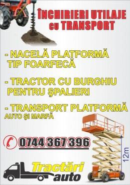 Inchirieri utilaje cu transport: