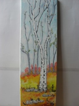 Toamna tarzie 2-pictura ulei pe panza,Macedon Luiza