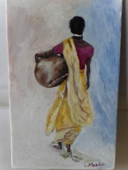 Sariul-pictura ulei pe placaj,Macedon Luiza