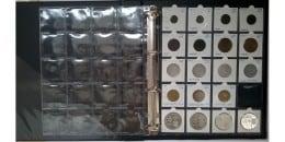 10 Folii Standard pentru 20 de monede in rame (cartonase)
