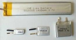 Baterii litiu polimer modele: 5020100, 200815, 091518, 052323