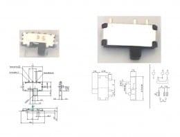 Comutatoare de diapozitive mini comutator -  grosime 1,4mm și 0,6mm