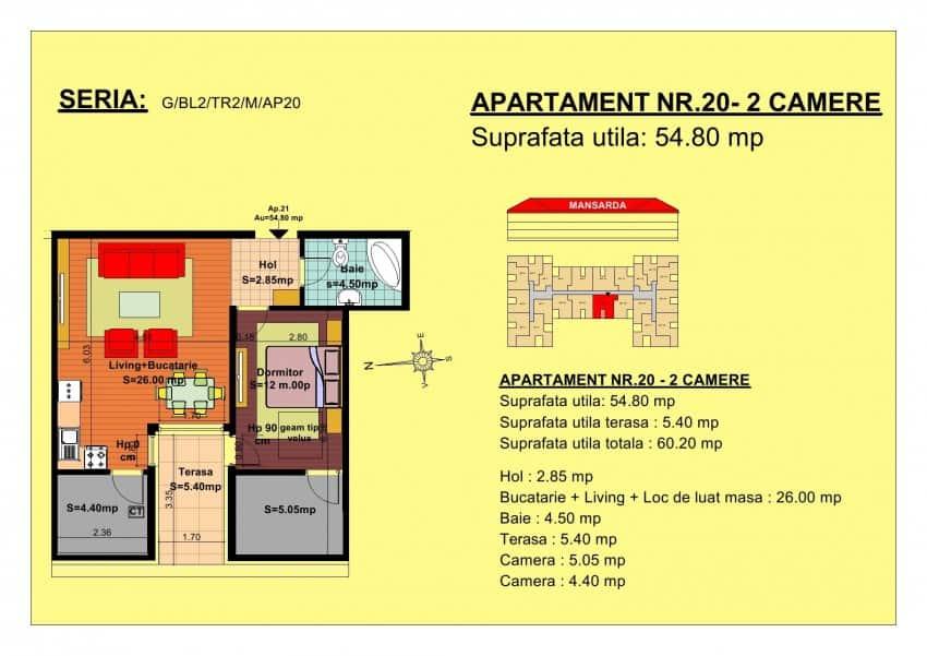 Apartament 2 camere in Brasov bloc nou
