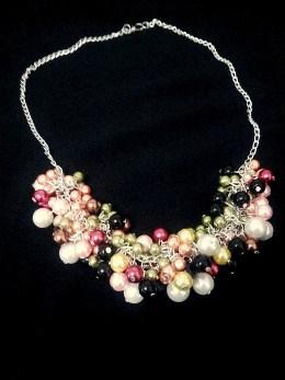 Colier Black&Green Bundle Pearls