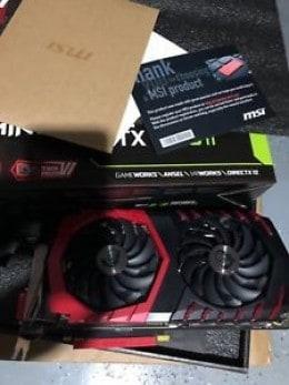 MSI GeForce GTX 1080 Ti GAMING X 11G, 11GB 352-Bit DirectX 12 Graphics Card