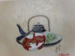 Moment de liniste-pictura ulei pe panza,Macedon Luiza