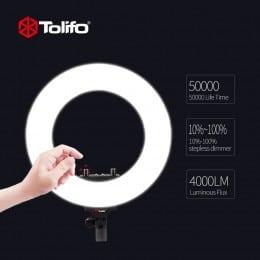 Lampa circulara Tolifo R40 Bicolora 360 Leduri, cosmetica, medicina, portret