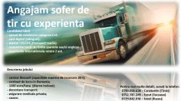 Angajăm șofer de camion cu experiență