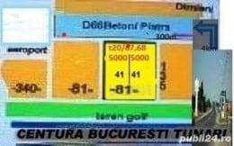 Tunari- ilfov,  4616m * 8€ teren intravilan,  la jumatatea pretului zonal