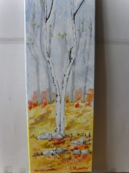 Toamna  1-pictura ulei pe panza,Macedon Luiza