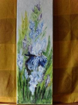 Irisi 2-pictura ulei pe panza,Macedon Luiza