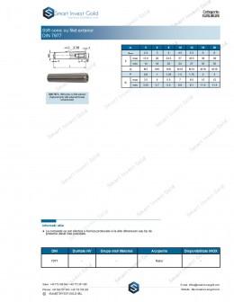 Stift conic cu filet exterior DIN 7977