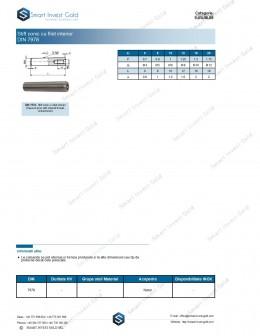 Stift conic cu filet interior DIN 7978