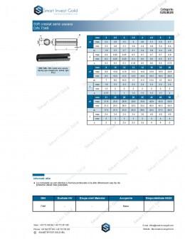 Stift crestat serie usoara DIN 7346
