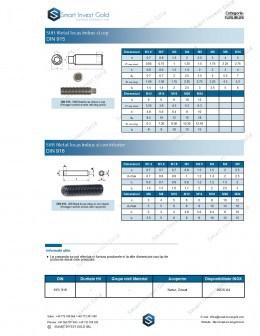 Stift filetat locas imbus  DIN 915/ DIN 916
