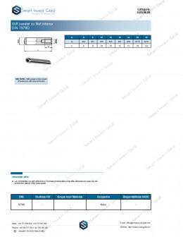 Stift paralel cu filet interior DIN 7979D