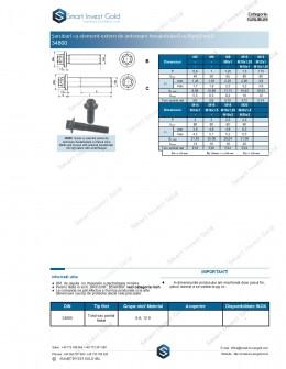 Suruburi cu element extern de antrenare hexalobulara cu flansa mica 34800