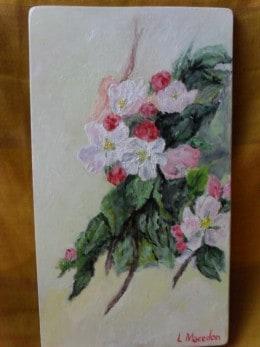 Flori 20-pictura ulei pe placaj,Macedon Luiza