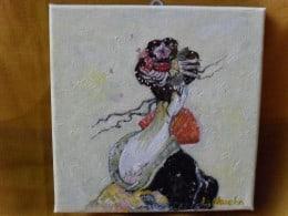 Nipona 7-pictura ulei pe panza,Macedon Luiza