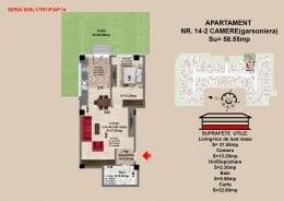 Vand apartament 2 camere in Brasov, 2017