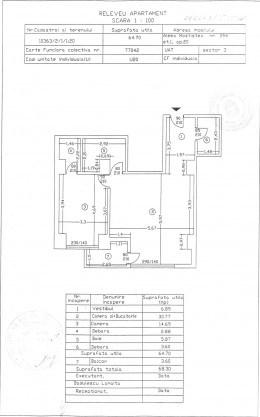Se vinde apartament 2 camere la Grigorescu, etaj 1