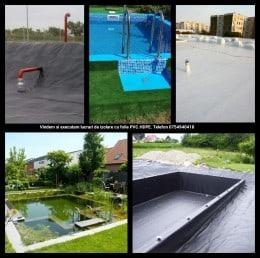 Vand folie PVC si Hdpe pt lac.iaz.bazin piscicol Pret de la 9ron/mp