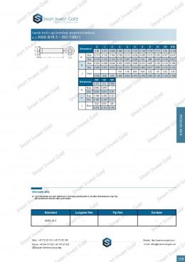 Surub inch cap bombat amprenta imbus  ANSI B18.3 ~ISO 7380-1