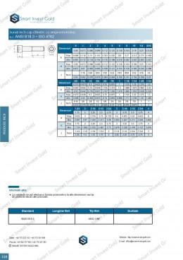 Surub inch cap cilindric cu amprenta imbus  ANSI B18.3 ~ISO 4762