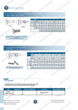 Nit cu cap plat forma A/ Nit semitubular cap plat forma B DIN 7338A / DIN 7337B