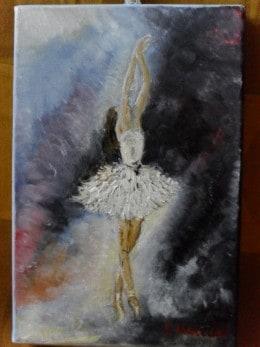 Balerina-pictura ulei pe panza,Macedon Luiza