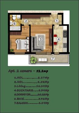 Noul Confort Urban-Ap.2 camere, 45500 euro!!!