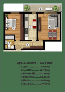 2 camere, 62mp, predare mai 2019 - Rahova