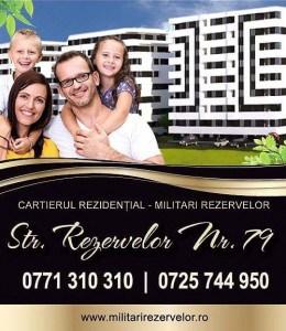 Apartament 3 camere, decom, MILITARI REZERVELOR