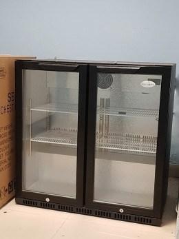 Vitrina frigorifica de bar cu 2 usi batante Scan noua